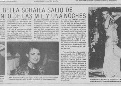 Newspaper article dancing in Toluca, Mexico_mex1991feb-rev