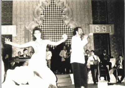 Dancing at Mena House, Pyramisa Egypt with Fadi Lebnan 1991